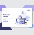 dedicated server concept vector image vector image