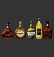 different brandies types vector image vector image