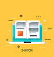 digital reading flat concept vector image