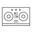 dj mixer thin line icon music and sound vector image vector image