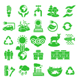 eco icons silhouettes vector image vector image