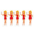 five types of female figures vector image vector image