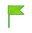 flag sign lemon scribble vector image vector image