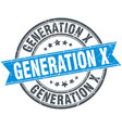 generation x round grunge ribbon stamp vector image vector image