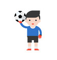 goalkeeper and football set profession character vector image