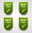 Green set of tags vector image