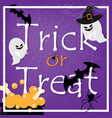 halloween background with trick or treat text vector image vector image