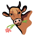 happy cow portrait vector image vector image