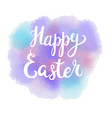 happy easter typographic lettering greeting card vector image