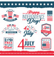 independence day united states poster set vector image vector image