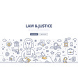 Law Justice Doodle Concept vector image