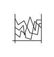 lines chart icon vector image vector image