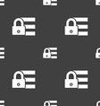 Lock login icon sign Seamless pattern on a gray vector image