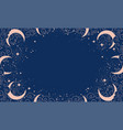 magical blue background with moon and crescent vector image vector image