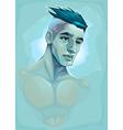 Male portrait vector image vector image