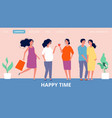 maternity landing page happy pregnant women vector image