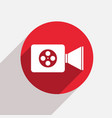 modern videocamera red circle icon vector image