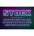 multicolored neon light alphabet extra glowing vector image vector image
