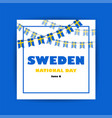 national day sweden independence day vector image vector image