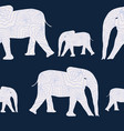 organic texture elephants on blue background vector image