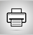 printer symbol with sheet paper with text vector image vector image