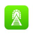 railway tunnel icon green vector image vector image