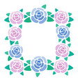 rose blossom frame place for text from roses vector image vector image