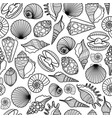 sea shells black seamless pattern vector image