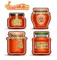 seabuckthorn jam in jars vector image vector image