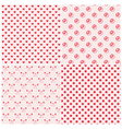 seamless patterns in pink colors vector image vector image