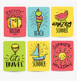 set hand drawn watercolor ribbons and stickers vector image