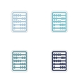 Set of paper stickers on white background abacus vector image vector image