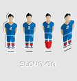 Slovakia Soccer Team Sportswear Template vector image vector image