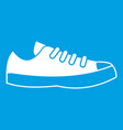 sneakers icon white vector image vector image