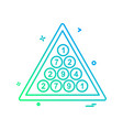 snooker icon design vector image