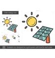 Solar energy line icon vector image vector image