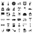 sport bicycle icons set simple style vector image vector image
