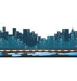 Street veiw with buildings in background vector image vector image