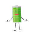 strong battery man standing and shows his muscles vector image vector image