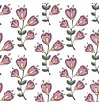 stylized flowers on a white background vector image vector image