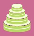 sweet dessert in flat design wedding cake vector image