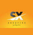 sx s x letter modern logo design with yellow vector image vector image