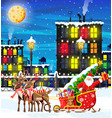 town covered snow vector image vector image
