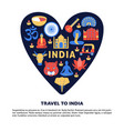 travel to india concept banner in flat style vector image vector image