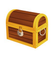 treasure wooden pirate chest isometric vintage vector image