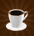 Vintage background with coffee cup vector image vector image