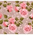 Wedding flowers seamless vector image vector image