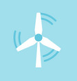 windmill energy flat icon clean energy concept vector image
