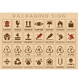 Packaging sign or symbols vector image