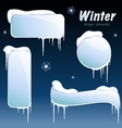 collection of glossy winter banners vector image